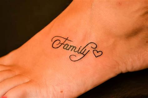family tattoo foot family heart tattoo sorta like this better then the