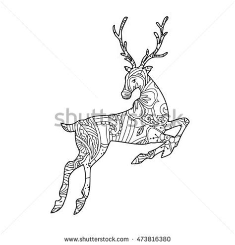 running deer coloring page running deer coloring pages sketch coloring page