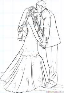 And Groom Outline Drawing by How To Draw A And Groom Step By Step Drawing Tutorials