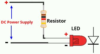 power supply resistor voltage leds resistor calculator electronics projects circuits