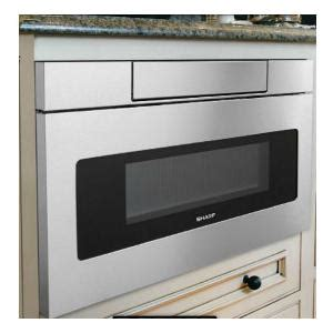 24 Inch Cabinet Microwave by Sharp 1 2 Cu Ft 24 Inch Built In Flat Panel Microwave