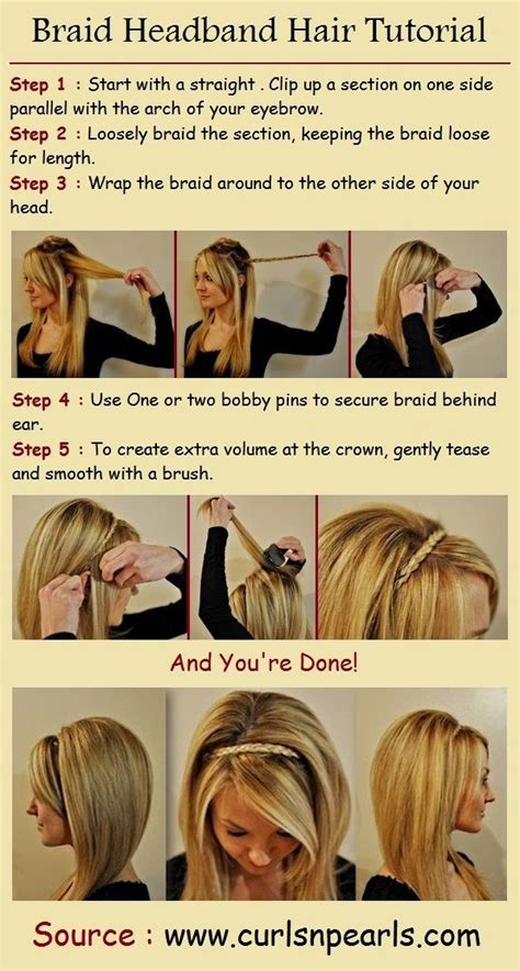headband braid step by step step by step hairstyles for long hair long hairstyles