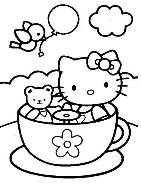 hello kitty large coloring pages big pictures of hello kitty coloring home
