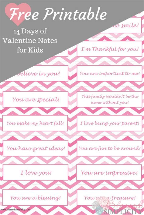 14 days of notes for free printable