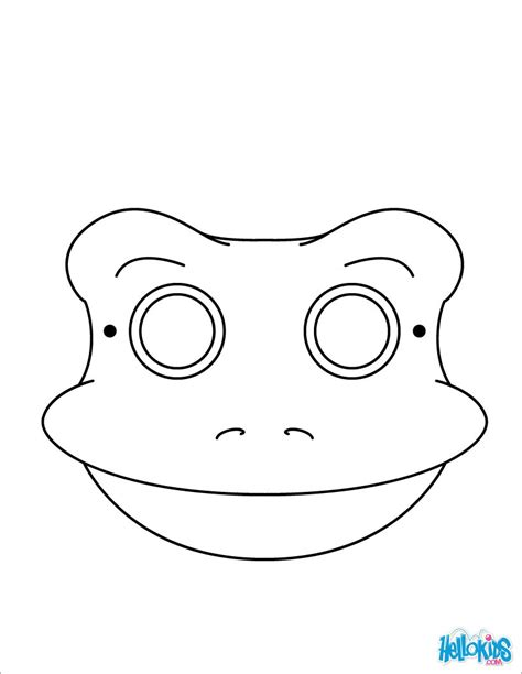 printable animal mask coloring pages frog mask coloring pages hellokids com