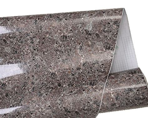 Granite Stickers For Countertops by Brown Granite Look Marble Gloss Vinyl Self Adhesive