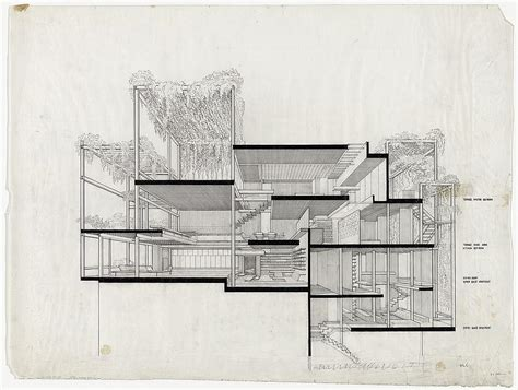 drawing sections architecture a selection of paul rudolph s perspective sections socks