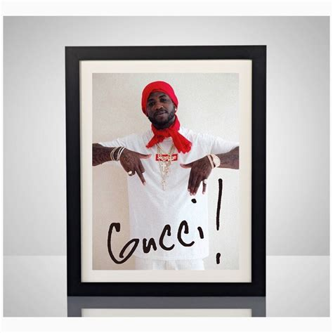 home decor wall posters supreme x gucci mane 11x17 poster print box logo