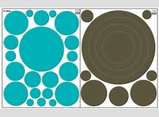 Dot & Circle Wall Decals ~Girls Wall Dot Decals & Ring ... V Alphabet Images In Heart