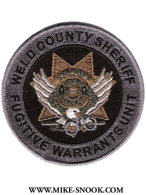Weld County Sheriff Warrant Search Mike Snook S Patch Collection Colorado Weld County
