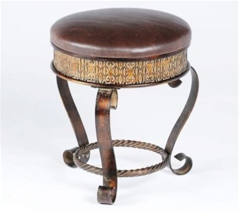 bathroom vanity stool or bench hilton vanity stool eclectic vanity stools and benches by kirkland s