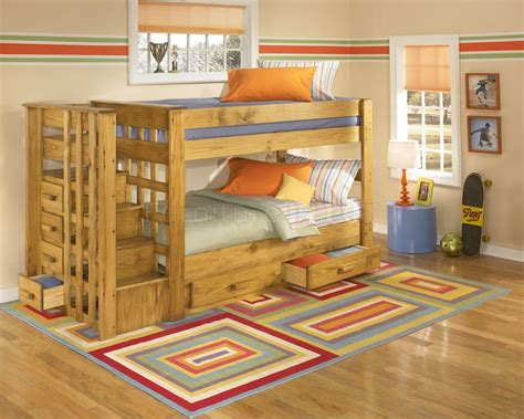 Stairs For Bunk Bed by Wood Bunk Bed With Stairs Cool Bunk Beds With Stairs