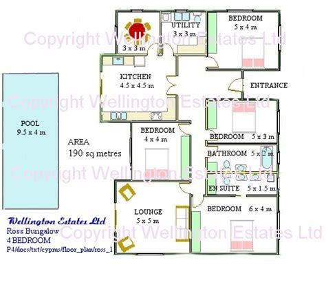 4 bedroom bungalow floor plan ross bungalow 4 bedroom floor plan