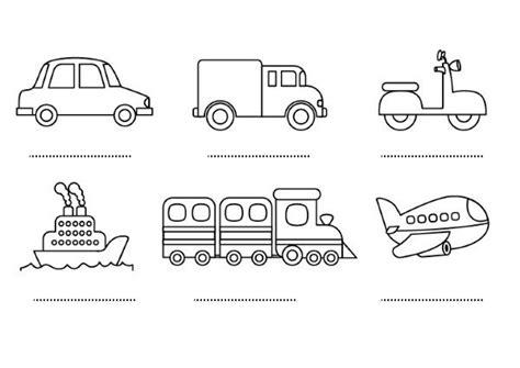 imagenes para colorear medios de transporte terrestre medios de transporte dibujos para colorear e imprimir