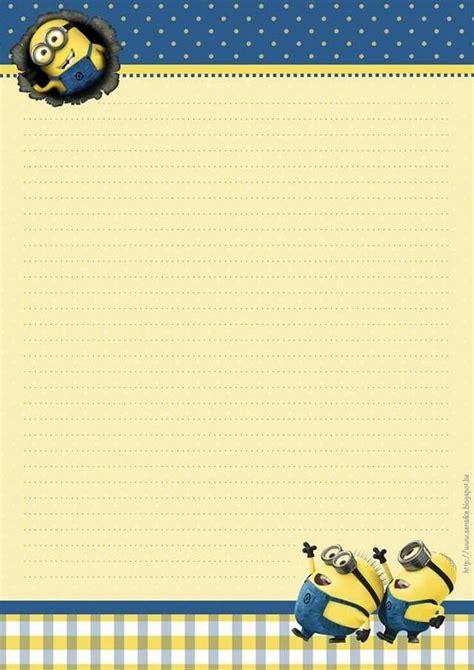 printable minion writing paper minions on pinterest