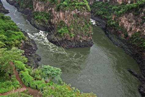 vic falls gorge swing vic falls africa s adventure capital africa geographic