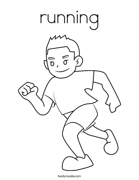 Running Coloring Pages running coloring page twisty noodle