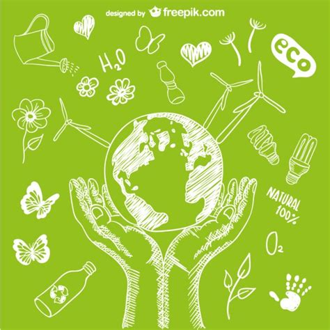 design for the environment protect the environment vector vector free download