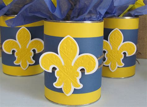 cub scout blue and gold centerpieces ribbons glue