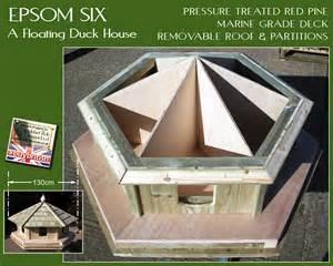 Mallard Duck House Plans Epsom Six Floating Duck House Epsomsix Duck Houses By