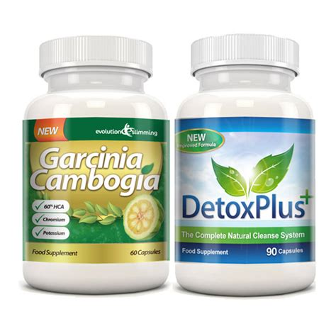 Garcinia Detox Pills by Garcinia Cambogia Cleanse Combo 1000mg 60 Hca With
