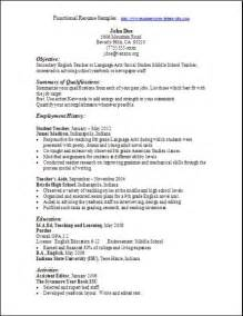 Resume Functional Format by Resume Sles Functional Format