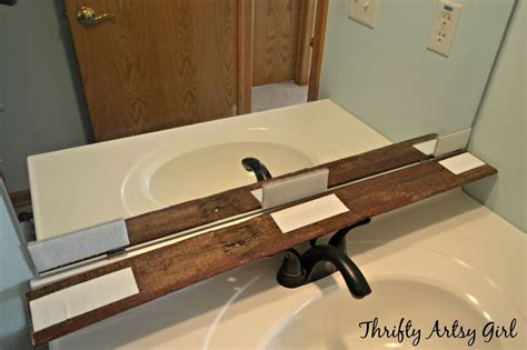 this thrifty house framed bathroom mirror hometalk easy diy reclaimed wood frame on a builders