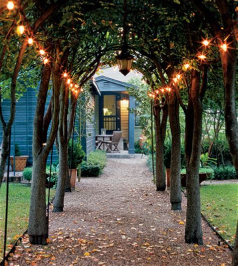 backyard fairy lights outdoor ambience strings of light the inspired room