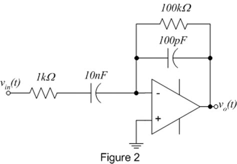 circuit diagram of integrator and differentiator using op ee 212 lab 9