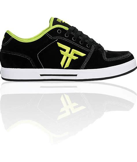 on sale fallen shoes patriot ii black lime skate shoes
