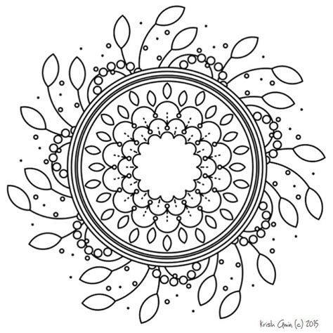 Intricate Spring Coloring Pages | intricate mandala coloring pages leaf spring by krishthebrand