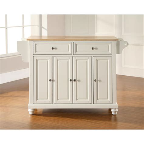 white kitchen island with natural top cambridge natural wood top kitchen island in white finish