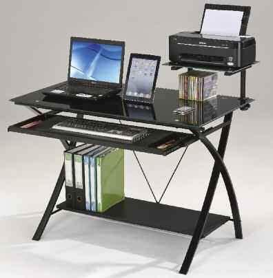 Black Metal Computer Desk Erma Black Glass Metal Computer Desk Office Desks