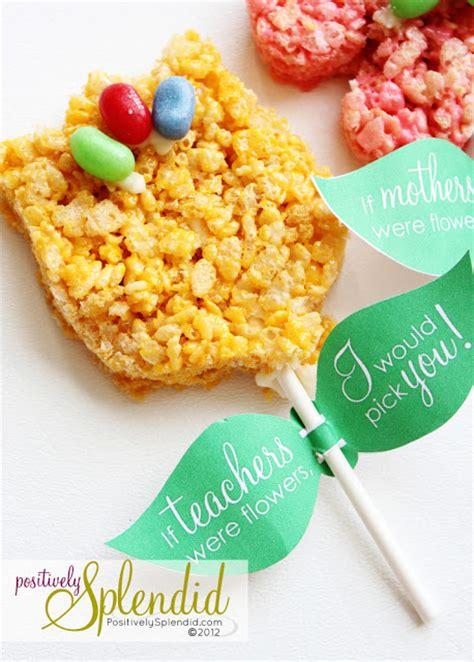 Terracotta Leaf Include Packaging Rice Krispies Treat Flower Pops Free Printables