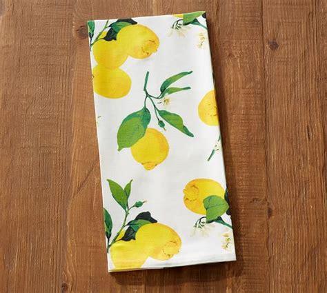 Lemon Kitchen Towels by Painted Lemon Tea Towel Pottery Barn