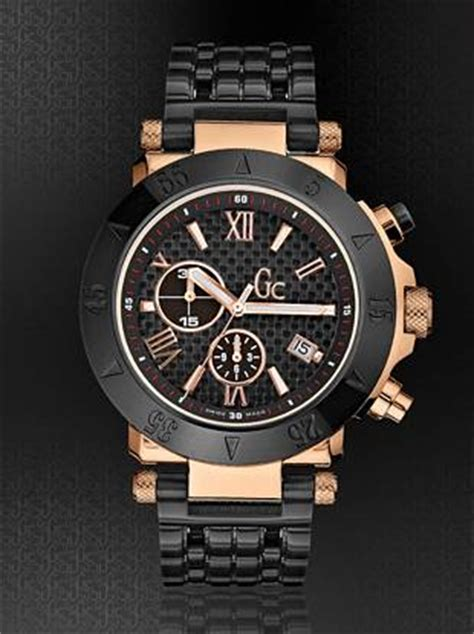 Guess Gc 30000 Rosegold Black Leather s gc swiss watches guess