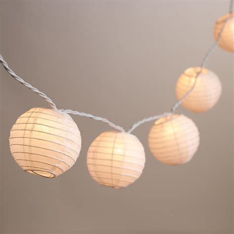 Round Paper 10 Bulb String Lights World Market Market String Lights