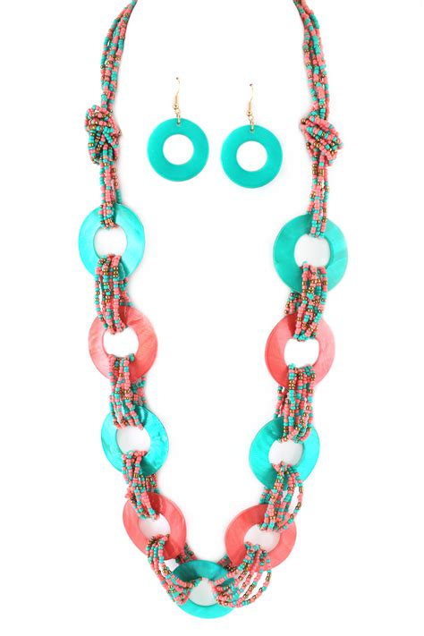 seed bead necklace layered knotted seed bead necklace set necklaces