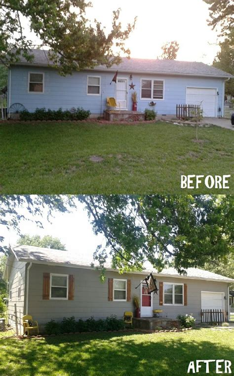 before and after curb appeal pin by 171 b 187 on home ideas