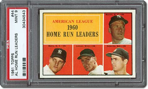 50 years later the 1961 topps baseball card set in