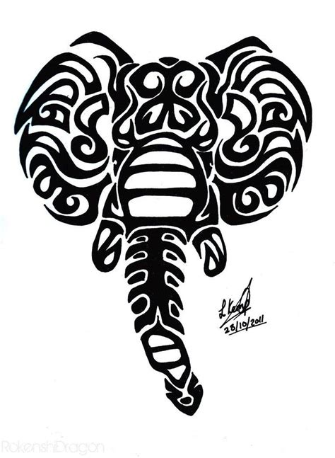 tribal elephant tattoo designs wonderful black tribal elephant design