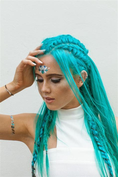 fairy hairstyles for short hair beautiful teal blue hair with braids and fairy like