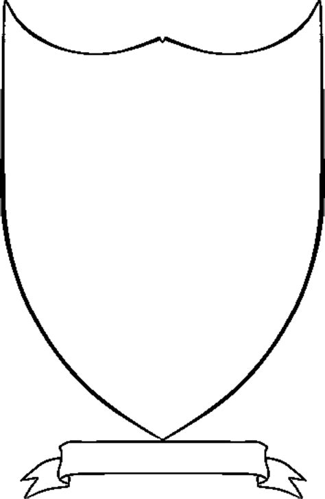 crest template shield template cliparts co