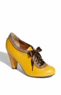 Yellow Shoes School Shoes Retro Yellow Shoes