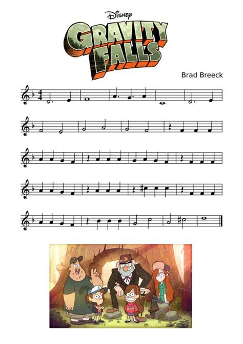 themes about music gravity falls theme sheet music for recorder