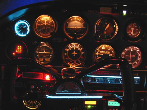 aircraft instrument panel lighting this great cherokee panel courtesy of an avtek customer