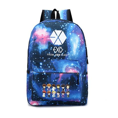 Backpack Logo Exo new 2015 korean s colorful canvas backpack