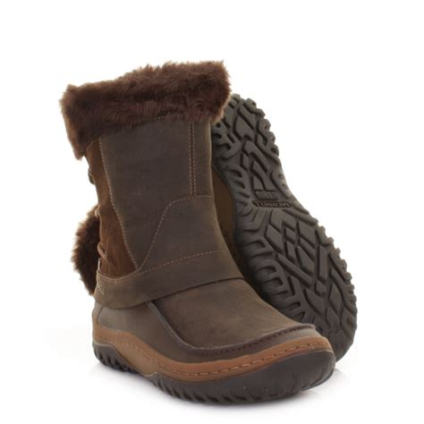 womens merrell decora minuet mocha waterproof winter snow
