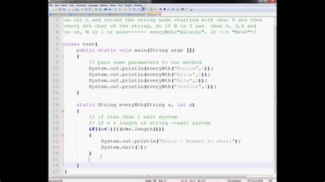 Character Letter Java problem 2 saturday tutorial java removing every nth