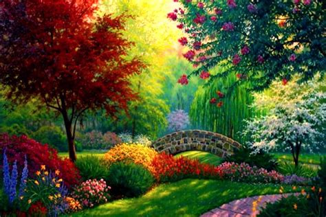 awesome home garden painting share on facebook imagefullycom top 10 most beautiful cool nature wallpapers